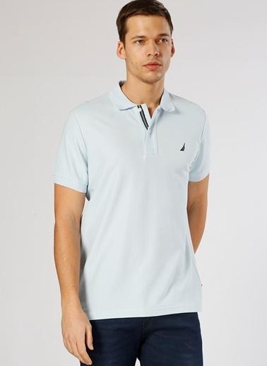 Nautica Nautica Açık Mavi T-Shirt Mavi